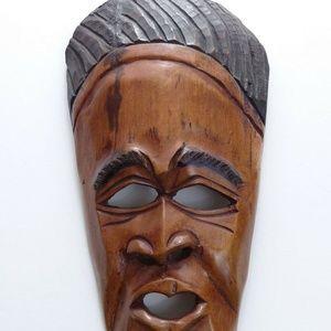 Vintage African Face Mask